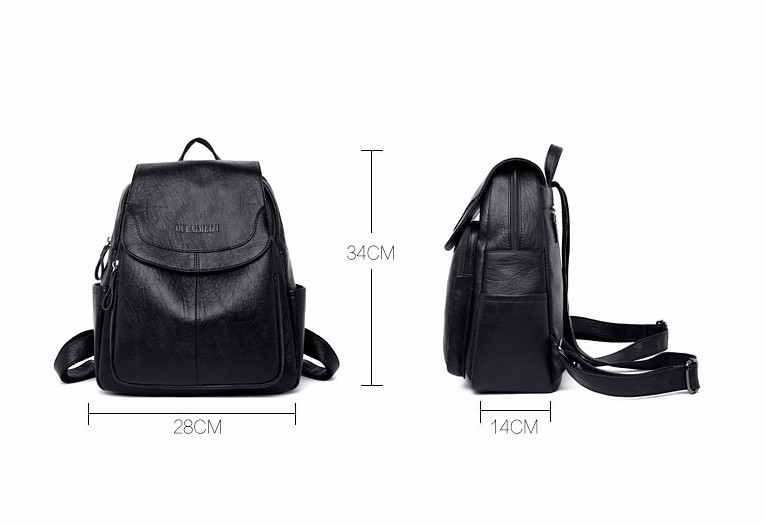 HTB1tyULaozrK1RjSspmq6AOdFXal 2019 Female Leather Backpacks High Quality Sac A Dos Ladies Bagpack Luxury Designer Large Capacity Casual Daypack Girl Mochilas