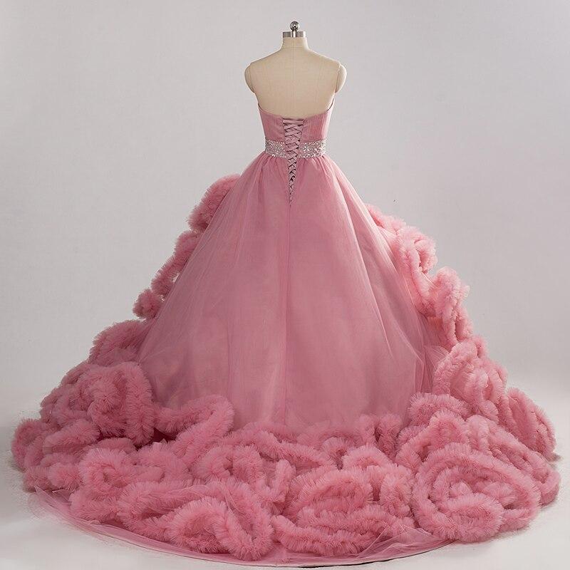 2016 Colores del vestido de Bola Nublado Riza los Vestidos de Boda ...