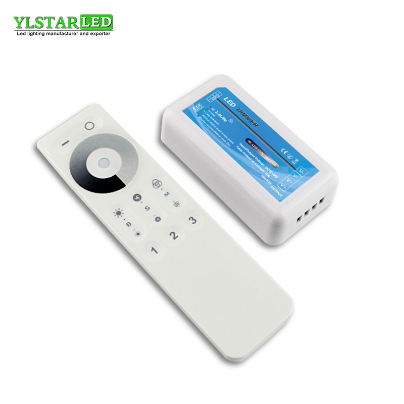 YLSTAR DC12-24V 2.4G <font><b>RF</b></font> Wireless 3 Zone single color brightness Adjustable dimming Controller <font><b>Dimmer</b></font> for WW/CW <font><b>LED</b></font> Lamp Strip