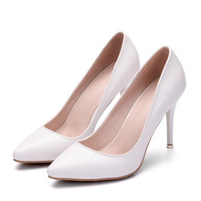 OL High Heels Womens Pumps White Wedding Shoes Woman Fashion Party Office Dress Ladies Shoe Sexy Elegant XY-A0027