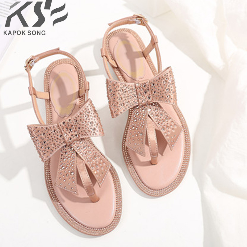 new 2018 women sandals silk diamond shoes summer fashional really luxury designer comfortable shoes female