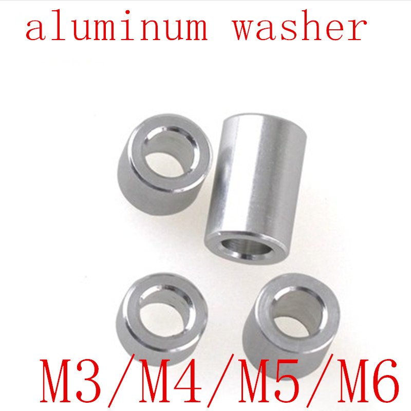 10-20pcs/lot M3 M4 M5 M6 Aluminum washer round hollow no thread standoff spacer thickness 2/3/4/5/6/8/10/12mm10-20pcs/lot M3 M4 M5 M6 Aluminum washer round hollow no thread standoff spacer thickness 2/3/4/5/6/8/10/12mm