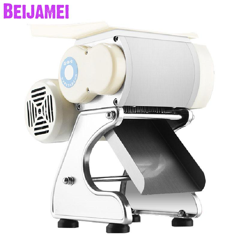 BEIJAMEI 160 Kg/h Electric Commercial Meat Slicer Meat Cutting Slicing Machine Meat Shred Meat Dice Machine For Restaurant