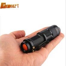 High Quality Zoomable 3-Mode Waterproof Aluminum Mini Flashlight Cree Q5 1000 Lumen Keychain Flashlight Portable Work Light