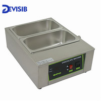 DEVISIB 8kg 2 Lattice Chocolate & Candy Melts Melting Pot Machine Top Quality Stainless Steel 304 Top Quality