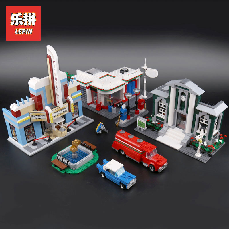 Lepin 02022 Kid Toys 2080Pcs City Compatible Legoing 10184 Town Plan Set Building Blocks Bricks Assembled DIY Christmas Gifts anniversary set town plan lepin cinema service station lamppost vehicle 02022 city diy building blocks bricks toys 10184 2080pcs