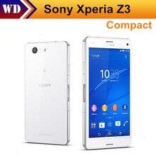 Desbloqueado Teléfonos Celulares Originales de Sony Xperia Z3 Compacto D5803 4.6 Pulgadas de Pantalla Táctil Cámara 16 GB ROM 20.7MP