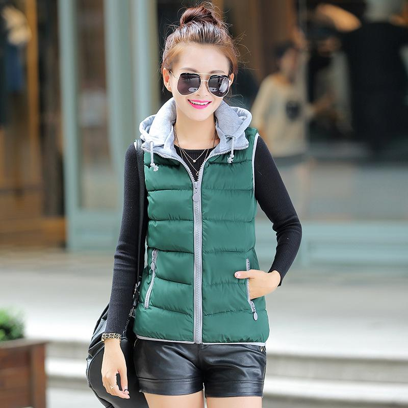 New Korean Version Of The Candy Color Down Cotton Jacket Large Size Women S Hooded Cotton Jacket