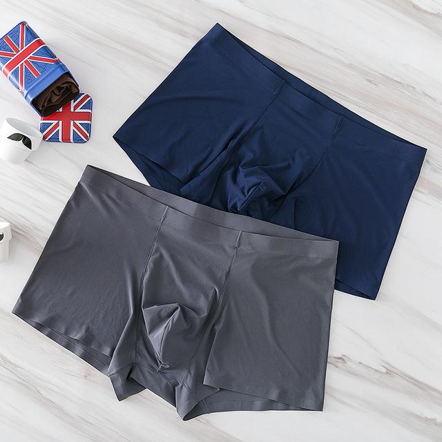 Seamless Men Boxers Luxury Silk