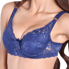2016 Women Sexy Underwire Padded Up Embroidery Lace Bra 32-40B Brassiere Bra Push Up Bras for Lady YO