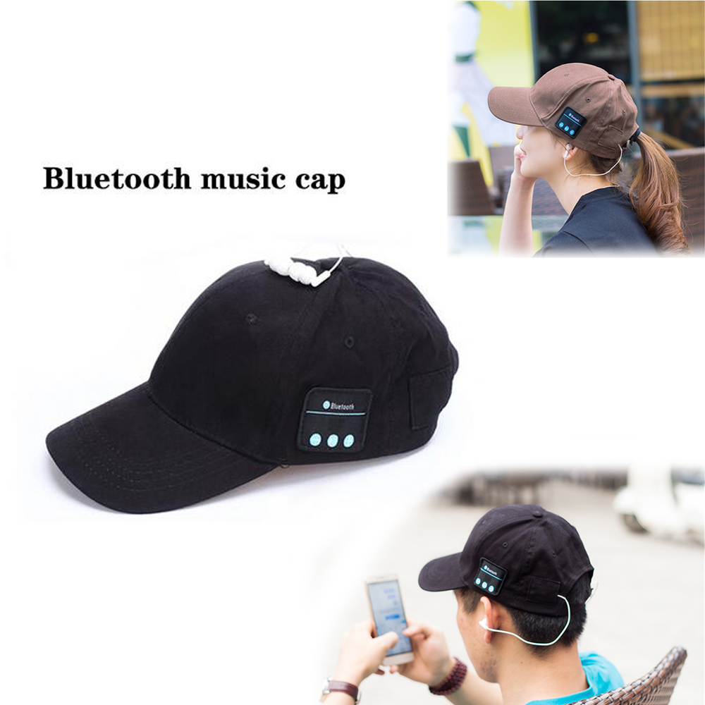 Bluetooth Headset Summer Winter ChenFec Knit Hats Headphone Bluetooth 4.0 fashion Music  ...