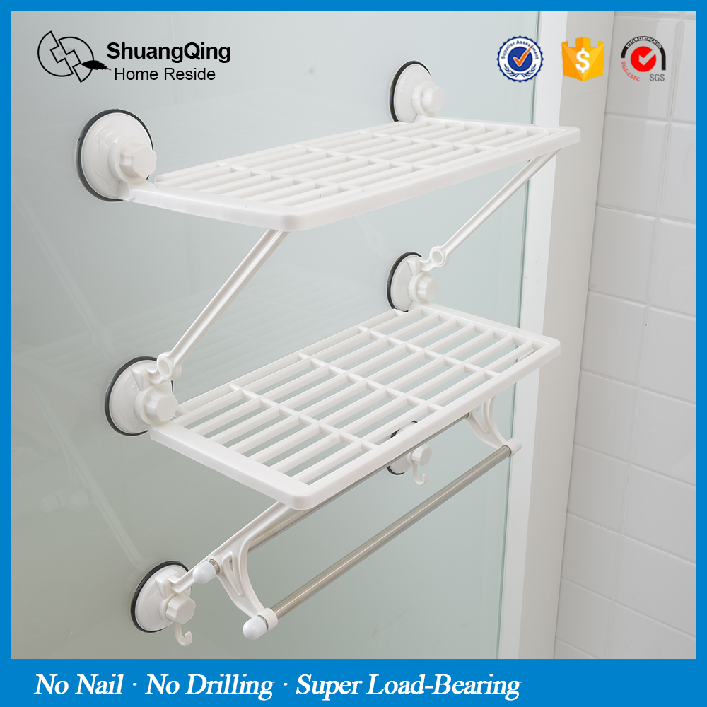 Free Shipping 3 Layer Plastic Suction Cup Wall Mounted Type Kitchen ...