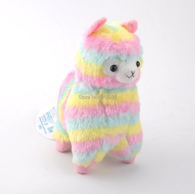 4d698253161 Free Shipping EMS 30 Lot Horse Doll Rainbow Colors 18CM Plush Doll Soft  Cartoon Dolls Stuffed Toys