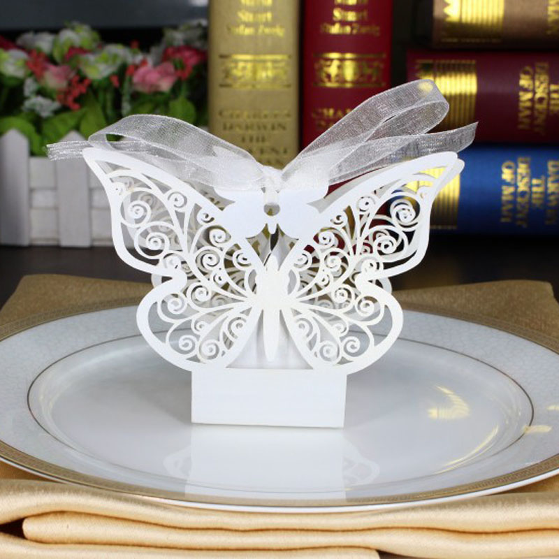Top 100 Wedding Gifts: Aliexpress.com : Buy 100pcs White Butterfly Laser Cut