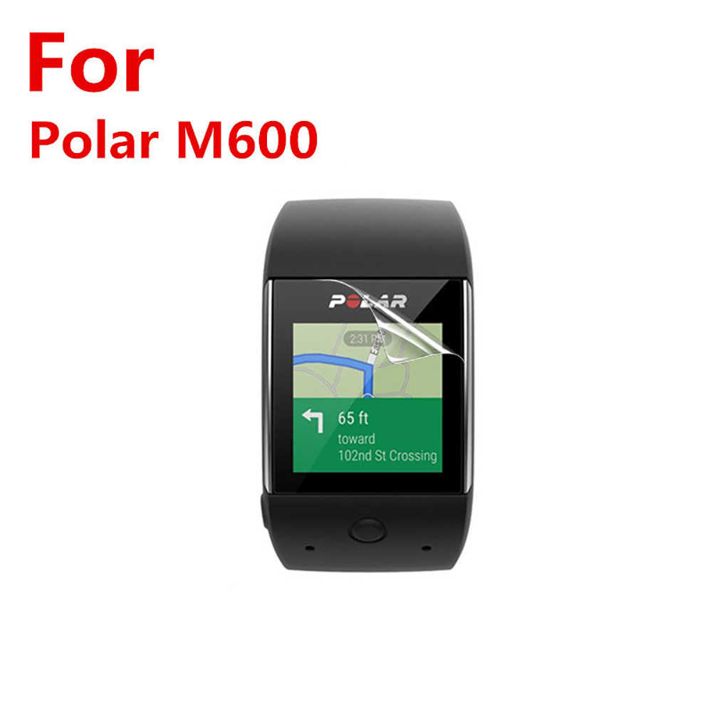 1pcs/2pcs/5pcs Clear LCD PET Film Anti-Scratch Screen Protector Cover for Polar M600 Sports Smart Watch Screen protective film