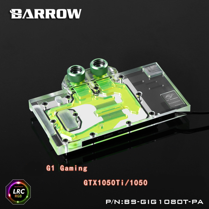 Barrow BS-GIG1050T-PA LRC RGB v1 Full Cover Graphics Card Water Cooling Block for GIGABYTE G1 Gaming GTX1050Ti/1050 barrow lrc rgb v1 full cover graphics card water cooling block bs gb1080 for gigabyte gtx1080 g1 gaming gtx1070 g1 gtx1060 g1