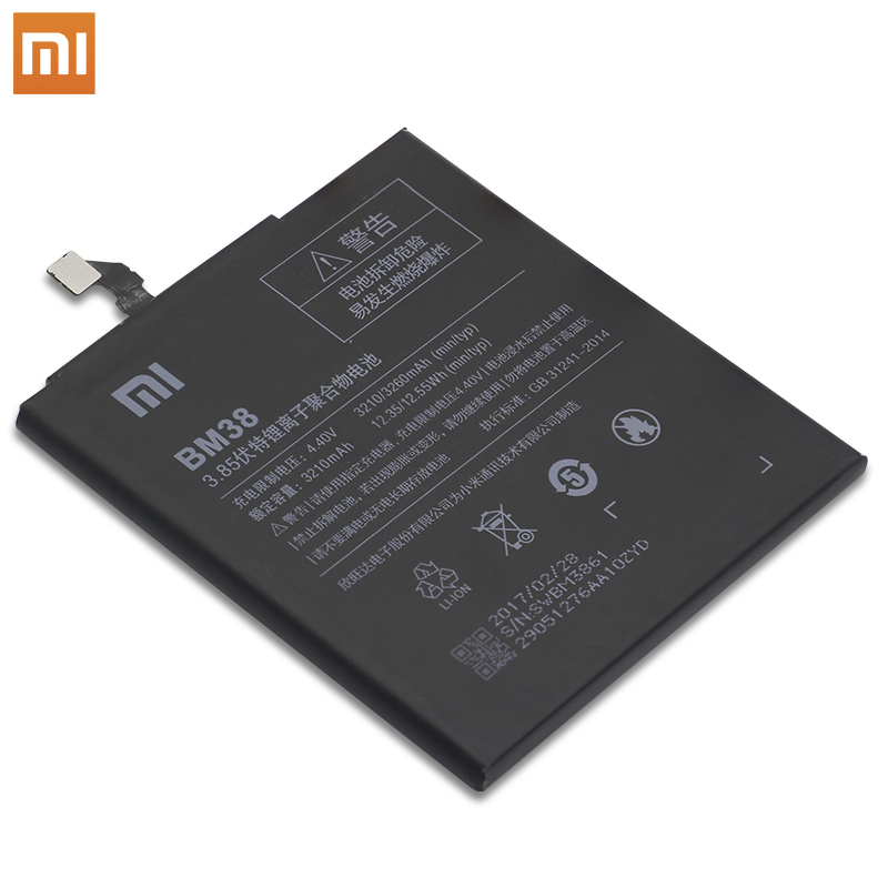 Xiao Mi Phone Battery BM38 Real For Xiaomi Mi 4S Redmi Phone battery High Capacity High Quality 3210 mAh with Free Tools in Mobile Phone Batteries from Cellphones Telecommunications