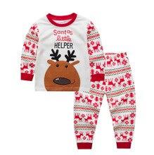 Купить с кэшбэком Cotton Cartoon Kids Pajamas Christmas Clothes Boys Girls Nightwear Pijama Infantil Pajama Sets Best Gift