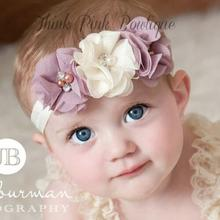TWDVS New Fashion kids Headband With 3 Flower Pearl Diamond Hair Bands Girls Headbands Elastic Hair Accessories For Girls