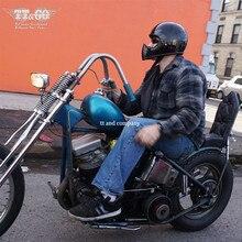 TT&CO Thompson Motorcycle Helmet cruise spirit rider retro ghost Helmets Glass Fiber Full Face can add goggles