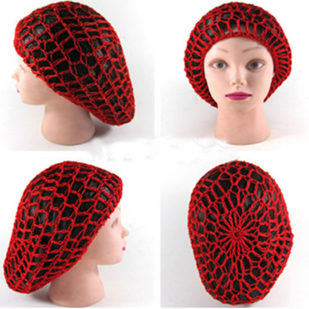 New Arrival Women Ladies Soft Rayon Snood Hair Net Crocheted Hair Net Hot sale accessories cheveux femme
