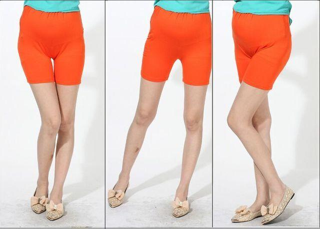 Новые прибытия женщины материнства беременных женщин Беременных женские брюки безопасности Шорты Высокое качество женщина беременная живот шорты F722
