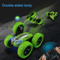 360 Rotate Double faced Stunt Car RC 4WD Remote Control Off road Model Kids Toy Gifts S7JN