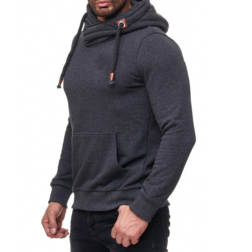 New Style Fashion Hot Men's Hoodie Casual With Hat Long Sleeve Top Hooded Solid Men Streetwear Slim Fit Men Hooded Clothing Top