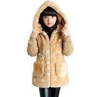 2016 Korean New Children S Clothing Female Baby Girls Coat Thick Coat Plus Velvet Padded Winter