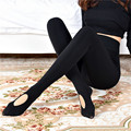 2017 Outono Inverno Micro-imprensa Mulheres Calças Justas Sexy Women Pantyhose Stepping Meias Pé Feminino Moda Slim Calças Justas 1793