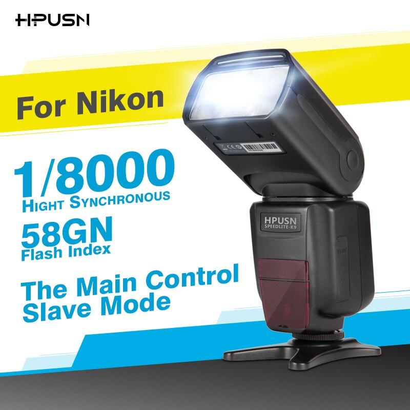HPUSN HPK9 1/8000s sync TTL Camera Flash Speedlite for Nikon D7100 D7000 D5100 D5000 D5200 D90 D70 D800 D600 D750 D810 D610 SLR профессиональная цифровая slr камера nikon d3200 18 55mmvr