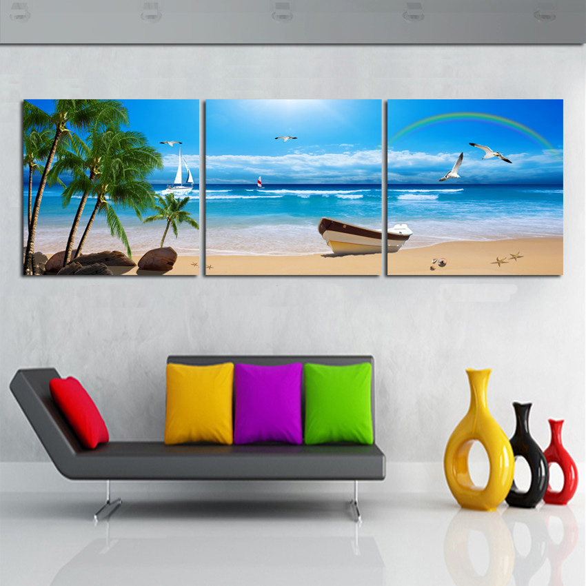 Online buy wholesale tropical oil from china tropical oil for Buy canvas wall art