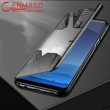Voor Samsung Galaxy Note 9 8 5 Case voor Samsung S6 S7 Rand S8 S9 Plus Flip Spiegel Case J4 j6 J8 A5 A6 A8 Plus 2018 A9 Star Cover