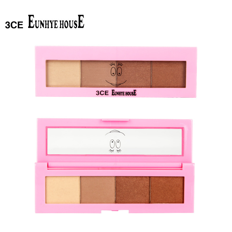 Hot selling3CE bubble, sir, four color eye shadow plate, pearl color, nude makeup, make-up fragrance, free shipping