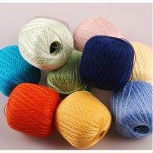 400 граммов, кружевная хлопчатобумажная летняя пряжа для вязания крючком, 8 шариков, доступны различные цвета