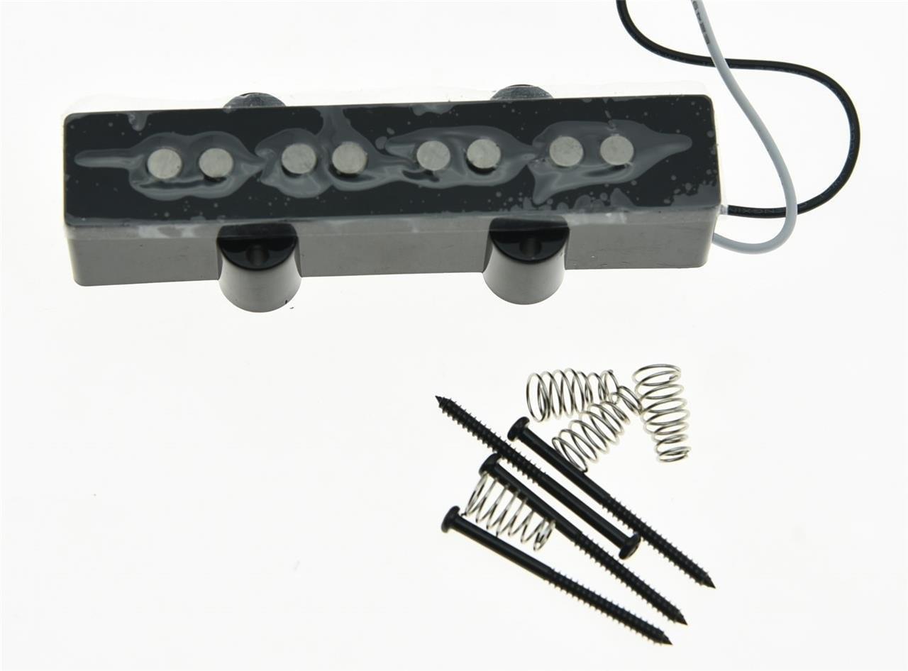 DIY guitar accessories  High quality Black 4 String J Bass Alnico 5 NECK Pickups 60s Vintage Sound Jazz Bass Pickup