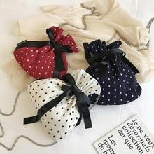 Female Bucket Crossbody Bags For Women 2019 Silk Luxury Handbags Designer Sac Ladies Chains Ribbons Bow Shoulder Messenger Bag все цены