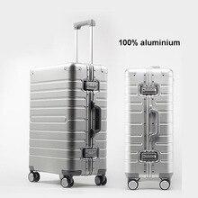 "REISE TALE Günstige aluminium reise koffer 24 ""spinner 20"" business gepäck trolley fall auf rad"