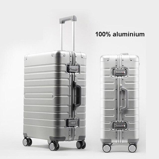 """TRAVEL TALE ราคาถูกอลูมิเนียมกระเป๋าเดินทาง 24 """"spinner 20"""" ธุรกิจกระเป๋าเดินทางรถเข็นบนล้อ"""