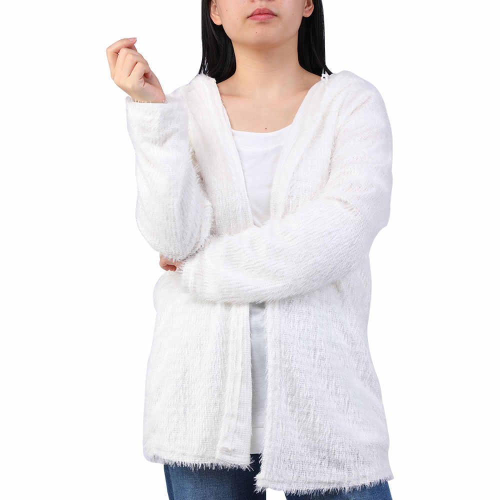 Wenyujh Mulheres Outono Inverno Casual Sólidos Ponto Da Forma Das Mulheres da Pele Do Falso Casaco De Pelúcia Com Capuz Casaco Feminino Manga Longa Outwear Fofo