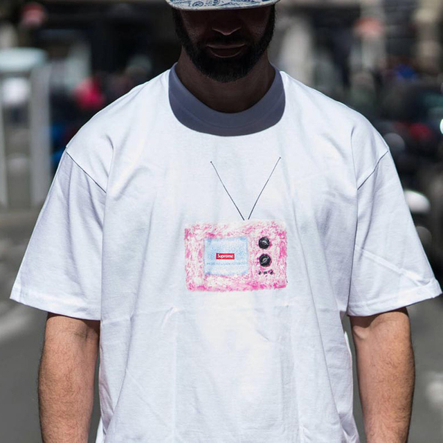 Suprem Man's T-shirts men women summer cotton top Original sins Leda And The Swan Knot Creeper WEEK1 Fruit Kate Moss tee