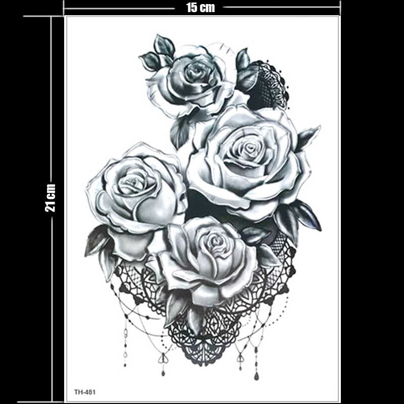 9c131eb09 ... temporary tattoos rose girl tattoo body thigh leg tattoo sexy summer  tatoo big water transfer tatto ...