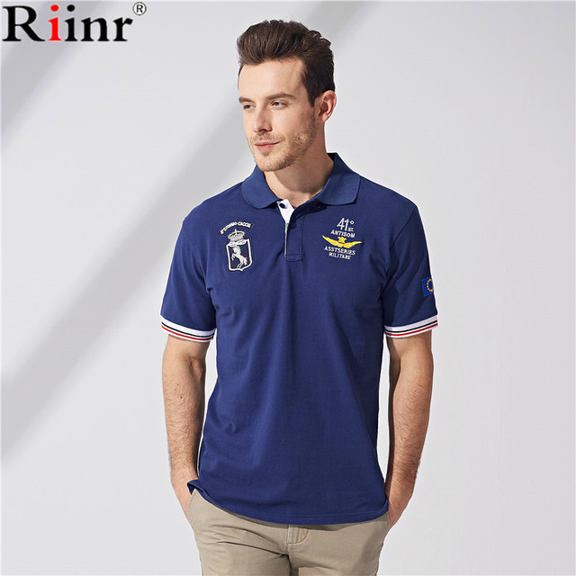 3d051c7f9a Riinr 2018 Brand Clothing New Men Polo Shirt Men Business   Casual Solid  Male Polo Shirt Short Sleeve Breathable Polo Shirt