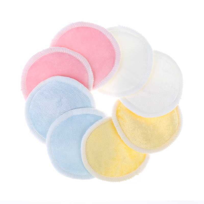Bamboo Cotton Soft Reusable Skin Care Face Wipes Cleansing Cosmetics Tool Round Makeup Cleansing Remover Pads with Laundry Bag