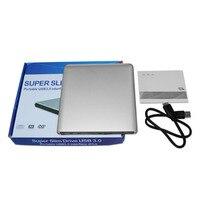 2017 NEW Super Slim Design USB 3 0 Aluminum Alloy External DVD Enclosure DVD Recorder Writer