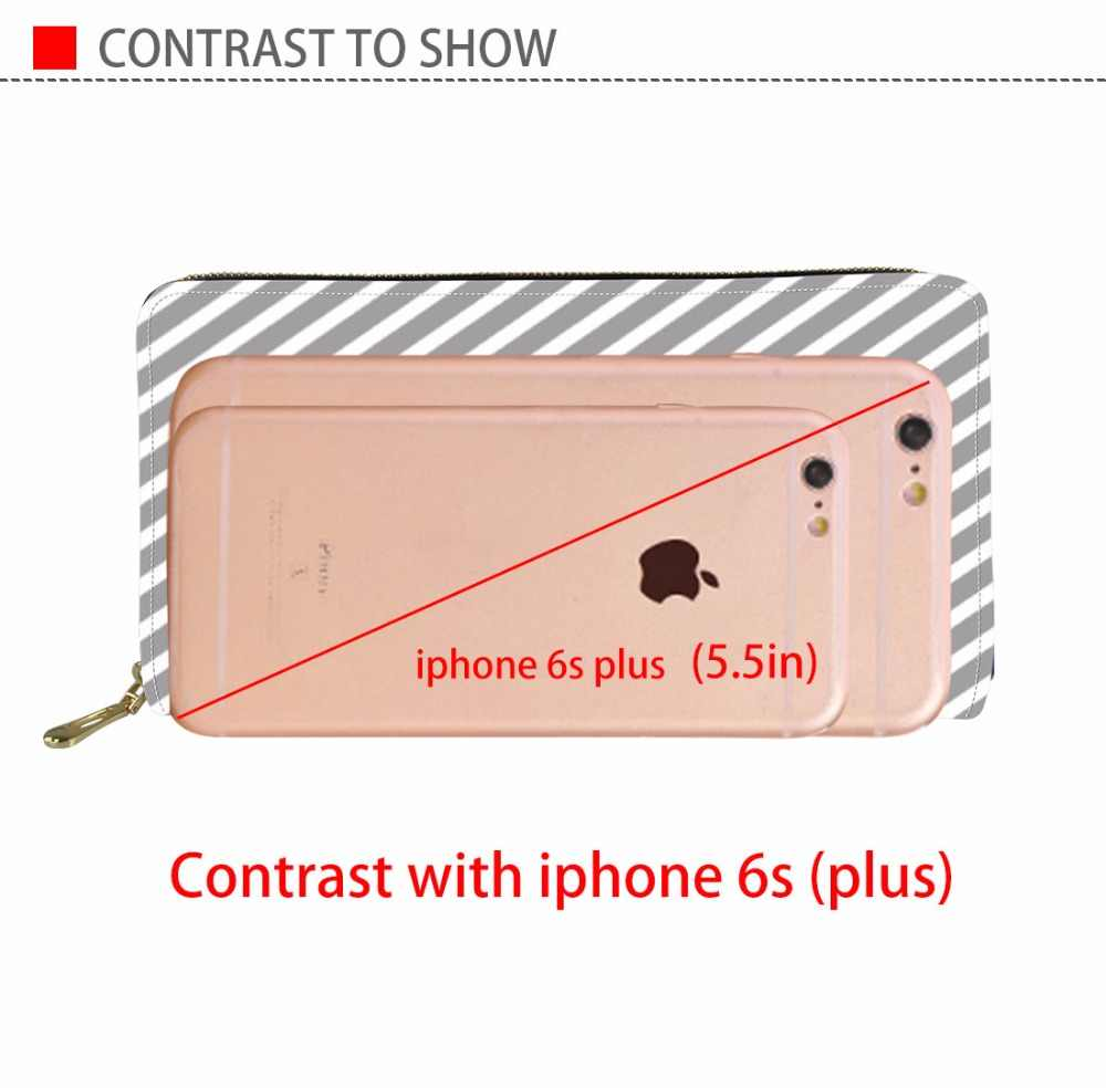 Coloranimal женский кожаный длинный бумажник с застежкой молнией милый розовый 3D принт аниме Модный водонепроницаемый клатч держатель для кредитных карт ПУ кошелек
