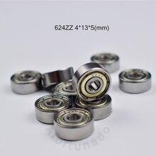 624Zbearing ABEC-5  bearings 10pcs metal Sealed Miniature Mini Bearing 624 624Z 624ZZ 4*13*5 mm chrome steel bearing