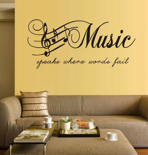 Large Size Music Sticker Music Note Home Decor DIY Wall Paper Wall ...