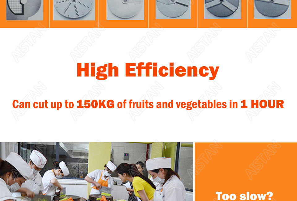 QC205 electric multi-purpose vegetable fruit cheese cutter dicing, cubing, slicing, stripped, grater slicer or shredded machine 5