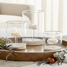 Glass Church Candlesticks Decoration Crystal Candle Container Wedding Centerpiece Castical For Home 255